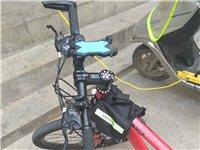 變速山地自行車,帶手電車鎖,車載包車載手機支架95新