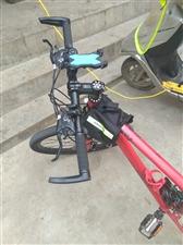 变速山地自行车,带手电车锁,车载包车载手机支架95新