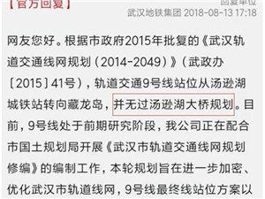 建议江夏地铁金口线通到藏龙岛和9号线换乘