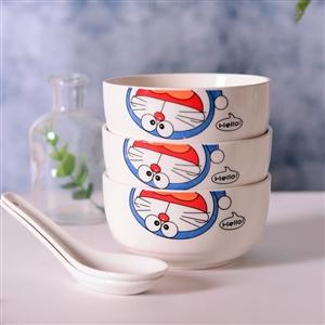 全新货底清仓 哆啦A梦陶瓷碗带勺。2元一个。洮南市里100套以上免费送货。