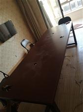 电脑办公会议桌8成新一套150要加凳子150要的