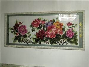 长两米的十字绣,花开富贵,颜色好,出售