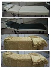 美容床八成新,有黑、白两款,配有床罩、被子。