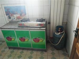 双人床,三门柜,煤气灶处理