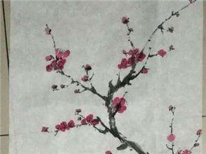 民勤农夫学童(崔正武)国画作品欣赏
