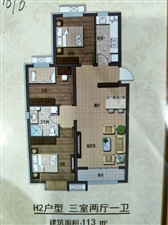 出售国悦府,113平米,三室,电梯房,户型好,南北通透,4800一平米,可贷款26万左右期房联系电话