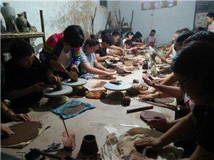 各个年龄段 亲手制作陶艺作品