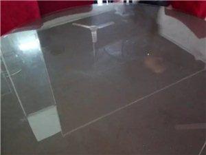 全新直径1.42米钢化玻璃桌面2张,买多...