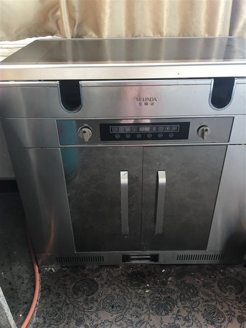 集成灶,自带油压机和消毒柜