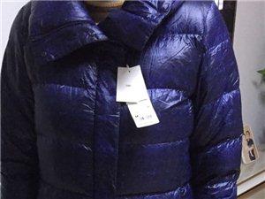 在日本买的优衣库密斯中长款羽绒服长款XL...