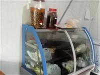 两个展示柜,一个饮料展示柜和一个点菜展示...
