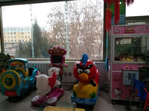 儿童乐园8成新设备,有挖掘机3D飞马,海...