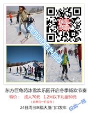 巨龟苑冬季滑雪圣诞节特价,约起