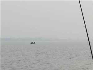 枝江顾家店河边有渔船非法电捕鱼