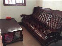 木头沙发茶几一组,价格便宜处理
