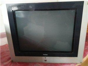 卖两台正在看着的电视,一个海尔一个海信的都是21寸的,图像很清晰,100一个