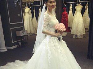 韩版高腰婚纱,4xl孕妇可穿不显肚,秀禾婚纱一起9折