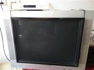 老式21寸电视 自家用的 显像清晰 低价处理  取货地点:铁锋区政务服务中心附近