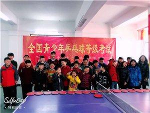 成名乒乓球培训中心的小朋友欢度除夕