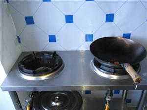 饭店用双眼炉具,非常好用。火力大,自家用也可以。