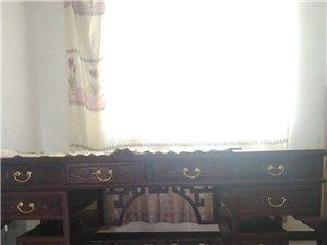 老榆木拱桥双面雕花字台书桌板台明清古典中式仿古家具