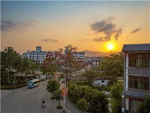 最美夕阳红当然是万泉镇的日落西山啦