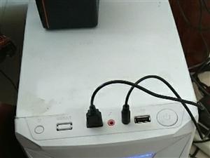 转让自用四核电脑主机可以玩一般的网络游戏四核心处理器4g内存,320g机械硬盘,独立游戏显卡