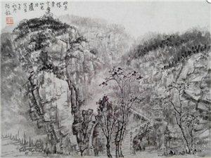 胡�x毅中����山水作品�