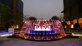 社区主入口广场音乐喷泉