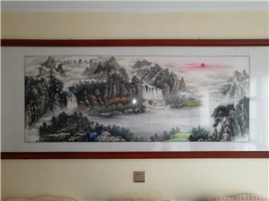 180×70cm山水画作品