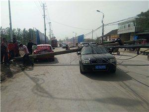 �阳西路发生一起电线杆倾倒事故,严重影响交通通行