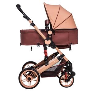 婴儿推车可坐可躺  轻便折叠儿童推车,九成新,土豪金钢管