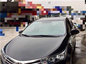 出售丰田卡罗拉1.6手自一体,2017年3月准新车,黑色非诚勿扰