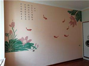 沐氧硅藻泥  电视背景墙    沙发背景墙