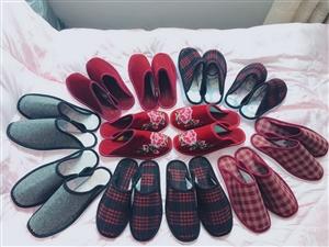 出售纯手工制作的拖鞋,可用于嫁娶,搬家。尺码、花色都可以订做。欢迎订购!