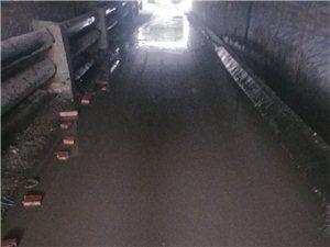 四街桥洞底下积水太多,