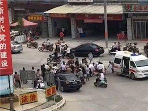 金和大圆下午发生一起车祸,现场有救护车赶到。
