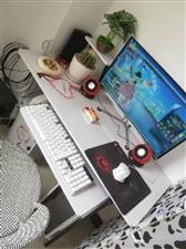 出售台式电脑  带电脑桌带凳子带音响  内存120CB如果方便可以直接亲自来看一看 上网一点不卡适合...