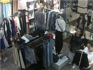小偷光明正大的在店里偷手机