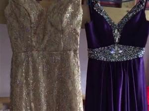处理两件高档的晚礼服,总共穿了两次,买时全新的2件1400,现外理500。