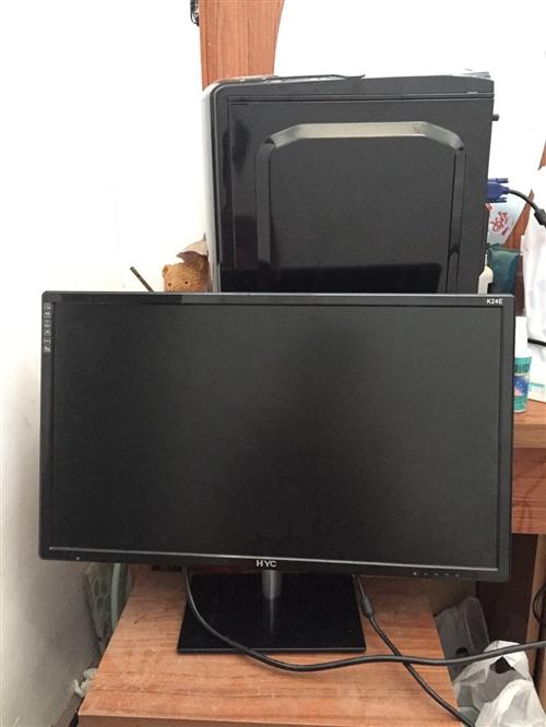 去年年前买的,用不着,出手24寸显示器,主机是酷睿i3的6100配置可以看一下,显卡集成的,办公没问...