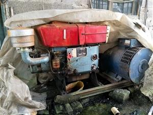 柴油15千瓦发电机组一套,机器全成工作最多30小时,九成新原价5000多,现在一口价2500元,有须...