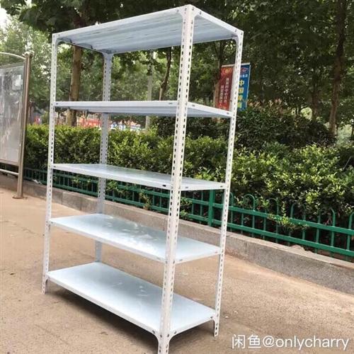 角钢烤漆白色货架,结实美观,承重能力很强。长1米宽60CM高2米5层货架10个100元一个,30CM...