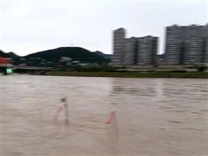 洪水退去,月亮湾啤酒广场不规则彩钢棚已露出!