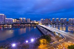 三亚大桥夜景