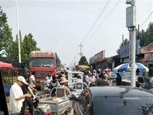 大钟庄集市太堵了