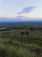 首山夕阳西下,无法用言语形容的美