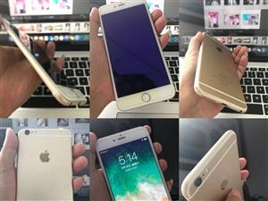 苹果手机6plus 金色16G 9成新