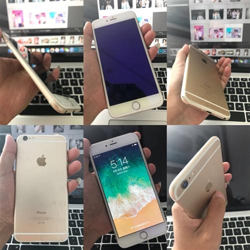 蘋果手機6plus 金色16G 9成新