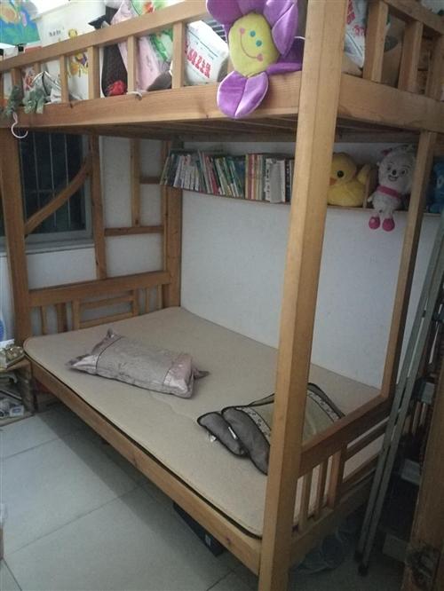 本人有闲置二层实木床转让